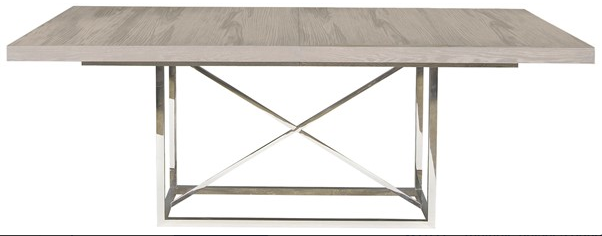 This sophisticated table can be made more formal with a darker wood top. It also extends!
