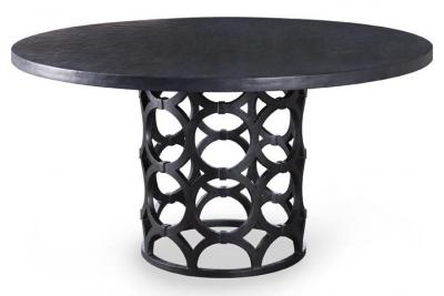 This is a fun table which can be used as a dining table or a game table. It comes in various finishes which can play up or tone down the look of your dining room.