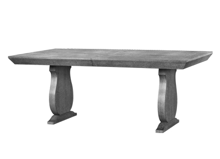 This high style table really great in this grey cerused wood finish. It also comes in a white lacquer which looks very glam.