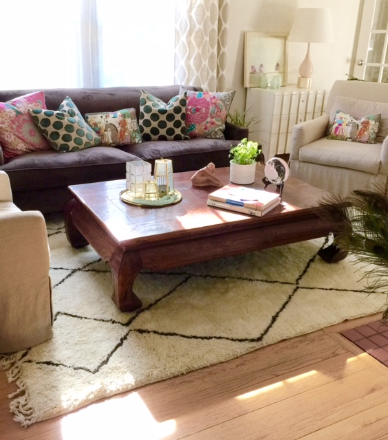 I have used Moroccan rugs in my client's traditional, contemporary, rustic and eclectic homes. There is such variety and they are so neutral, they blend with every style. Every home should have a cozy rug.