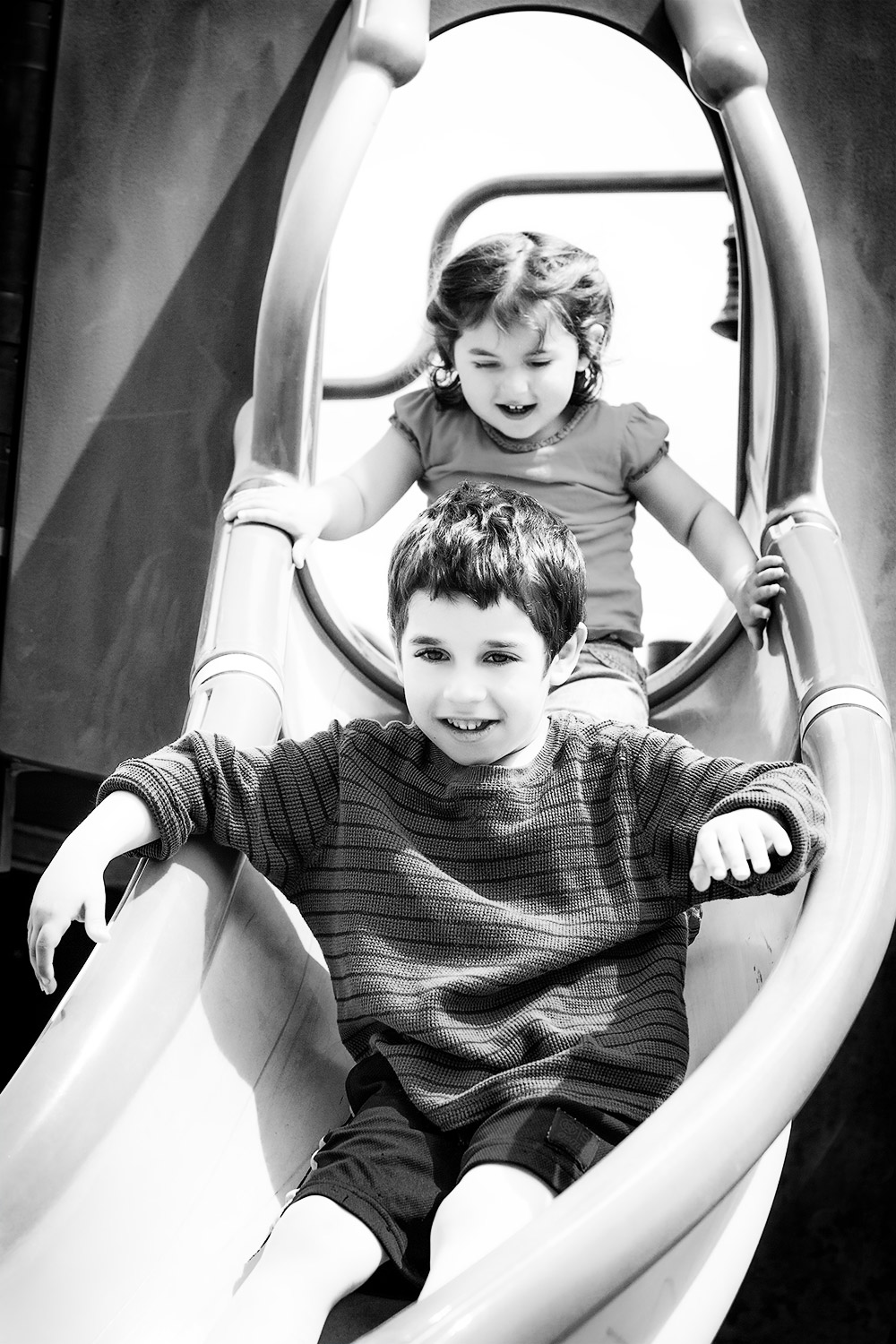 Portrait-of-Brother-Sister-on-Slide