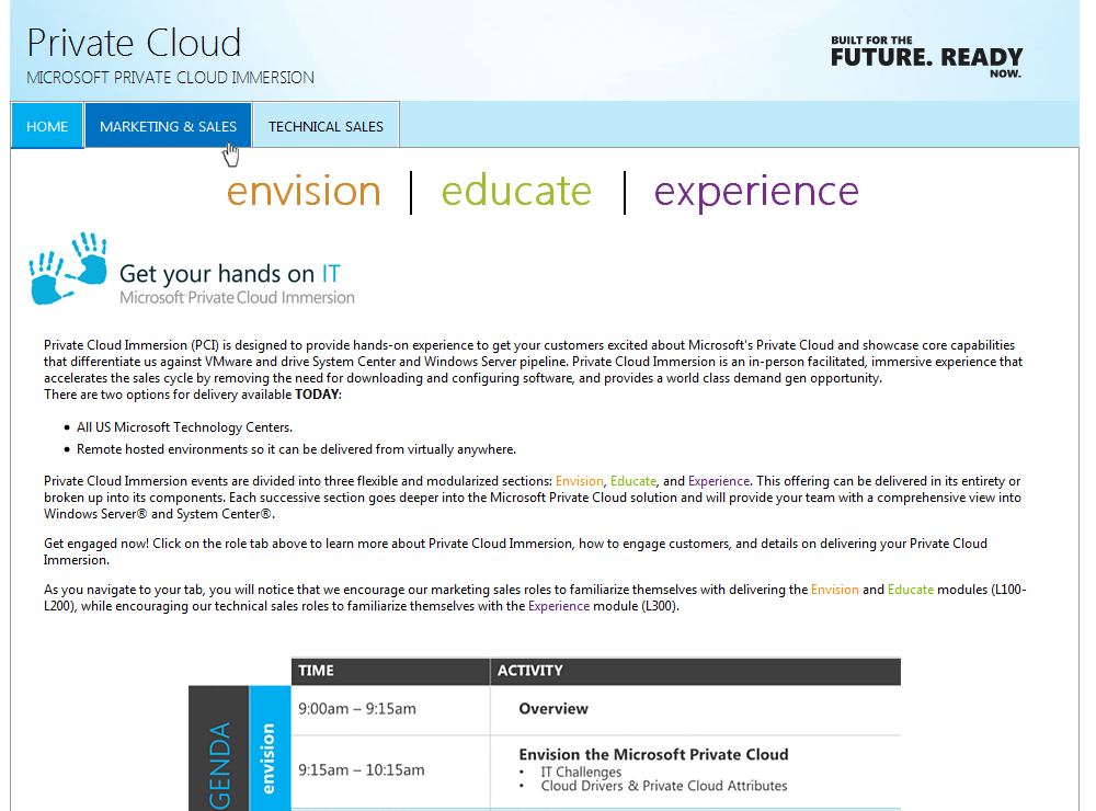 Microsoft Private Cloud - Stand-alone Website.