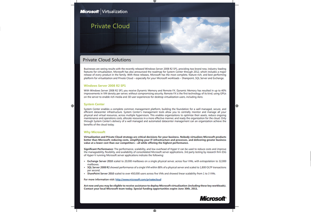 Microsoft Private Cloud Solution - Kit Insert