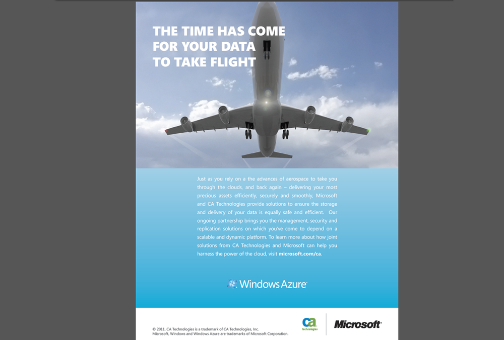 Microsoft / CA Ad