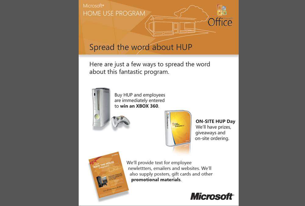 Microsoft HUP - Kit Inserts