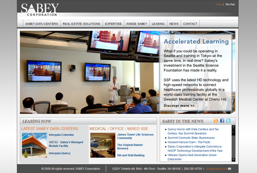 Sabey.com - Main Website