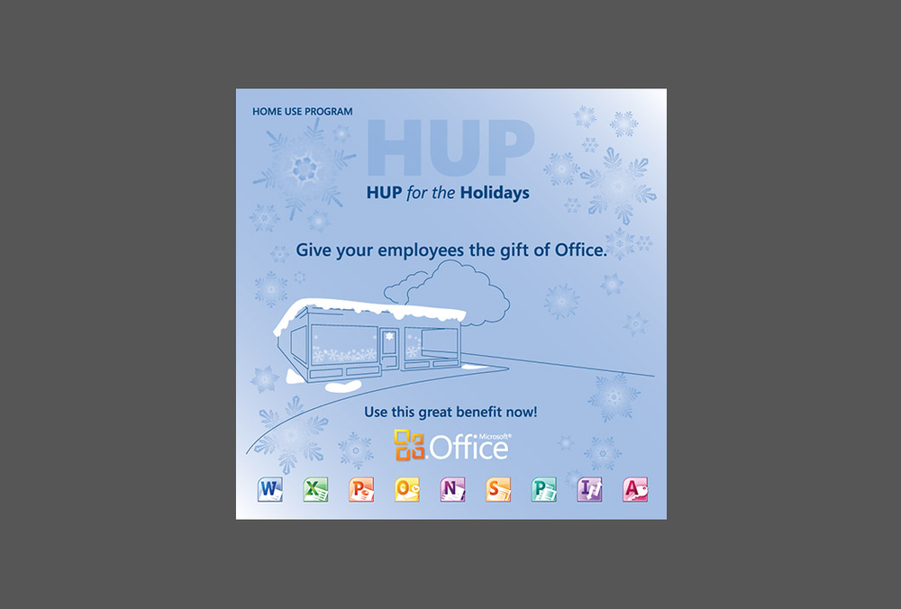 Microsoft HUP - Holiday Packaging Label