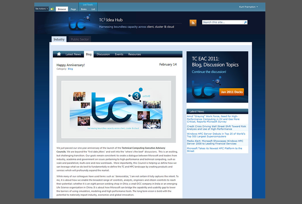 Microsoft Technical Computing - SharePoint Site