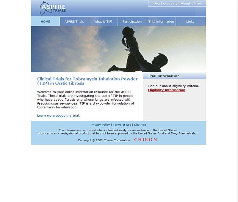 Aspire-trials.com - Information about CF Trials