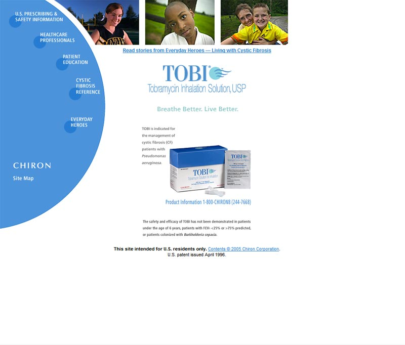 Abouttobi.com - Main Site for Tobramycin Solution.