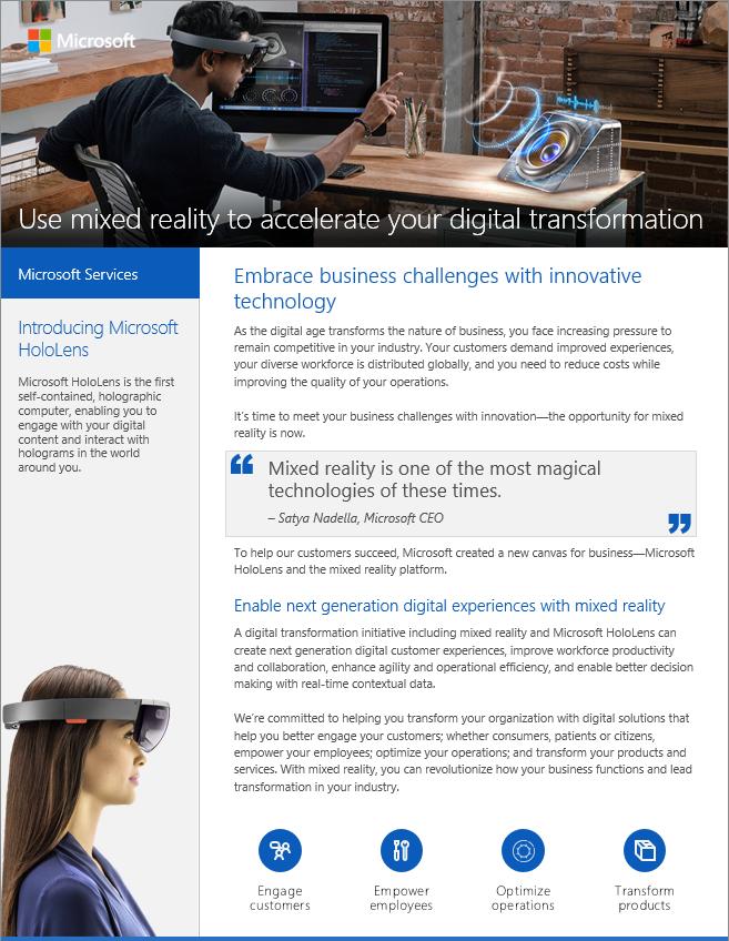Microsoft Services - HoloLens Datasheet