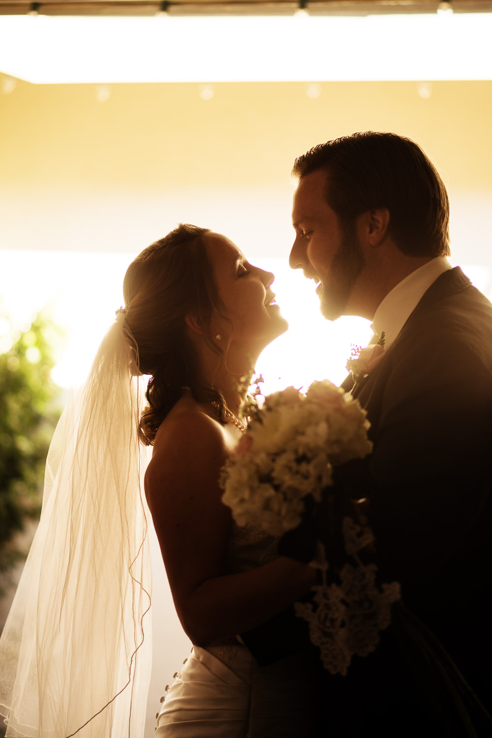 The gorgeous couple on their wedding day. Rustic and intimate backyard wedding in Ojai California