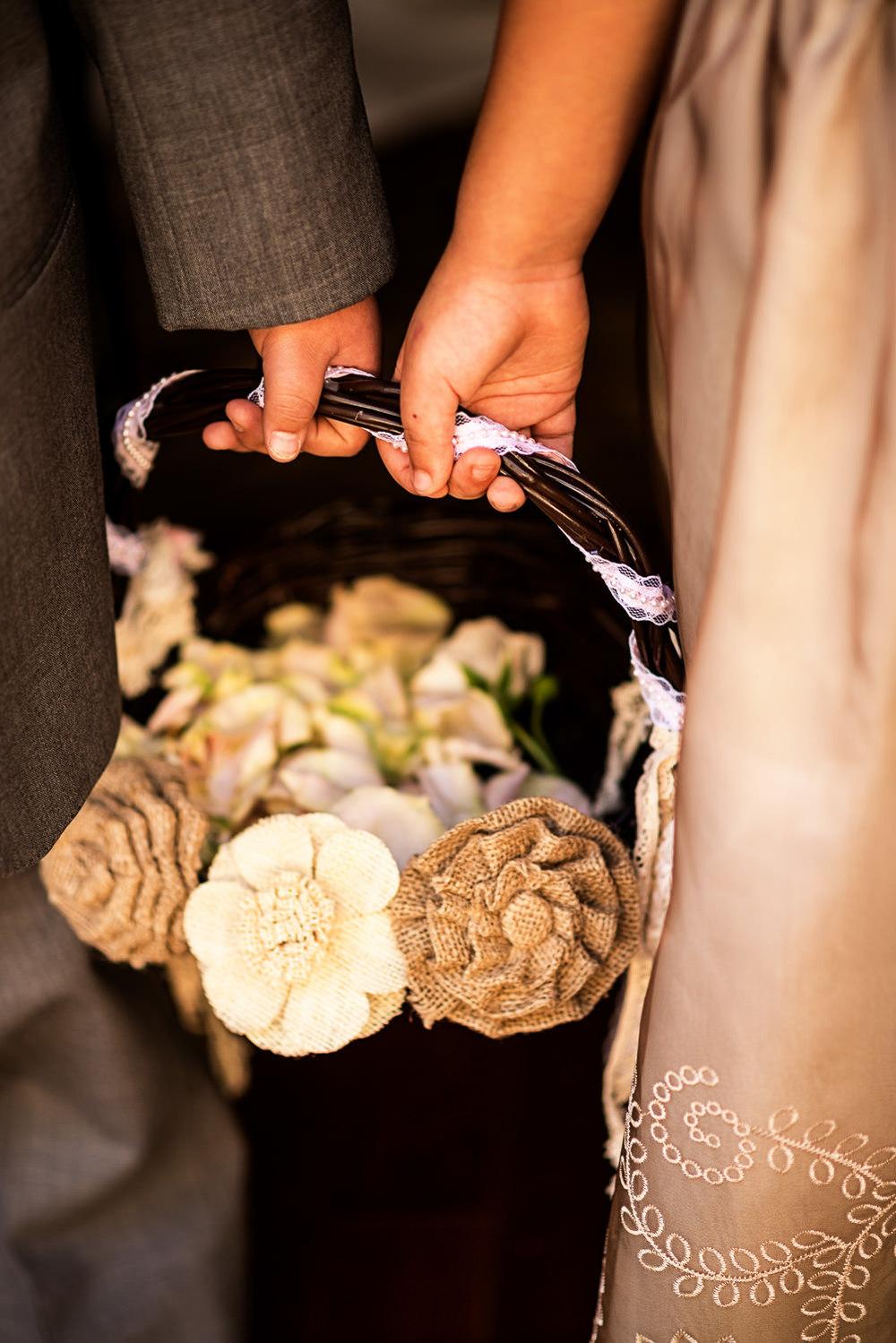 f27-Photography-Ojai-Wedding-February-2014-Flower-Girl-and-Ring-Bearer-Holding-Hands-Flower-Basket