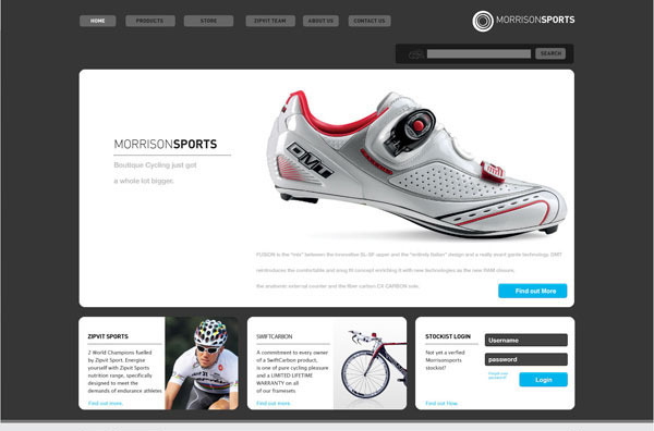 Morrison Sports online shop (click to enlarge)