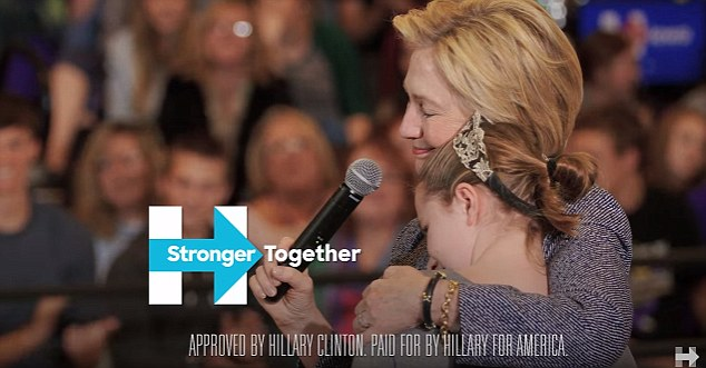 Hillary Clinton's campaign message is much less potent than Trump's. Image courtesy of Dailymail.co.uk