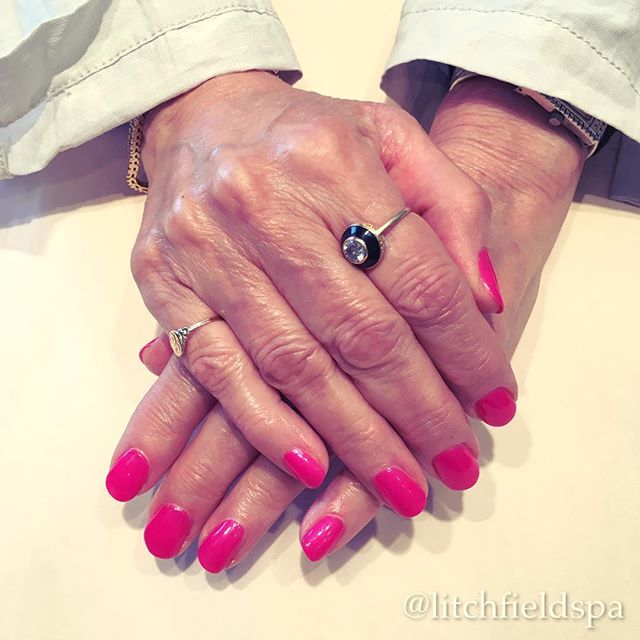 """October is Breast Cancer Awareness Month and the Spa is showing our support with our """"Pretty in Pink"""" promotion! Come in for a manicure or pedicure with pink polish from now thru the end of October and we will give you a $2 discount AND donate $2 to """"Are You Dense, Inc."""" Check out our Facebook page for more info! #LitchfieldSpa #LitchfieldCT #BreastCancerAwarenessMonth #AreYouDense #PrettyInPink #mani #pedi"""
