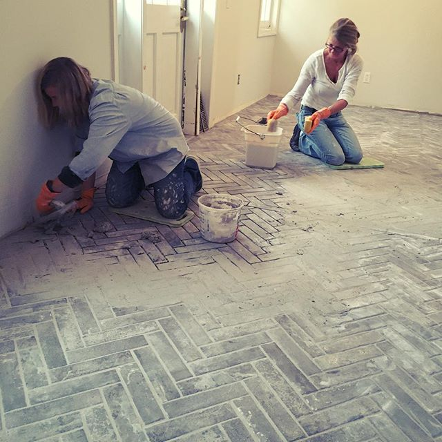 Buffy and Kim are doing such an incredible job tiling our new front lobby. We can't wait to see the finished product! 💪😍 👍#LitchfieldSpa #LitchfieldCT #SpaExpansion #TileFlooring #WomenWhoTile