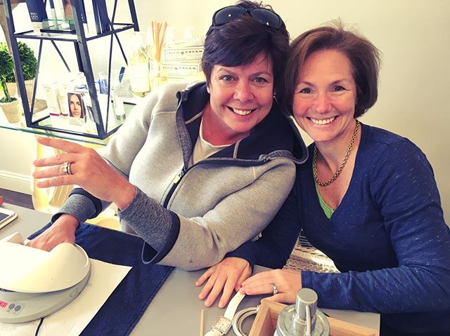 There's no better way to get the week going than nails with our very own Monday Mani Club: Anne and Ann! They bring the sunshine! 🌞💅 #LitchfieldSpa #LitchfieldCT #ManiMonday