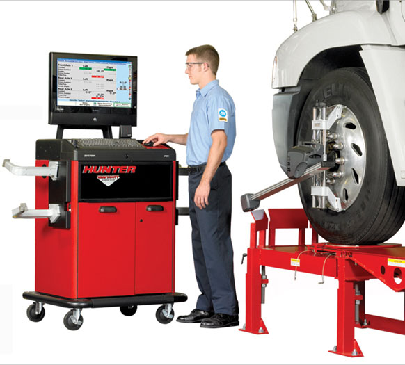 We Use State-of-the-art Hunter Alignment Equipment