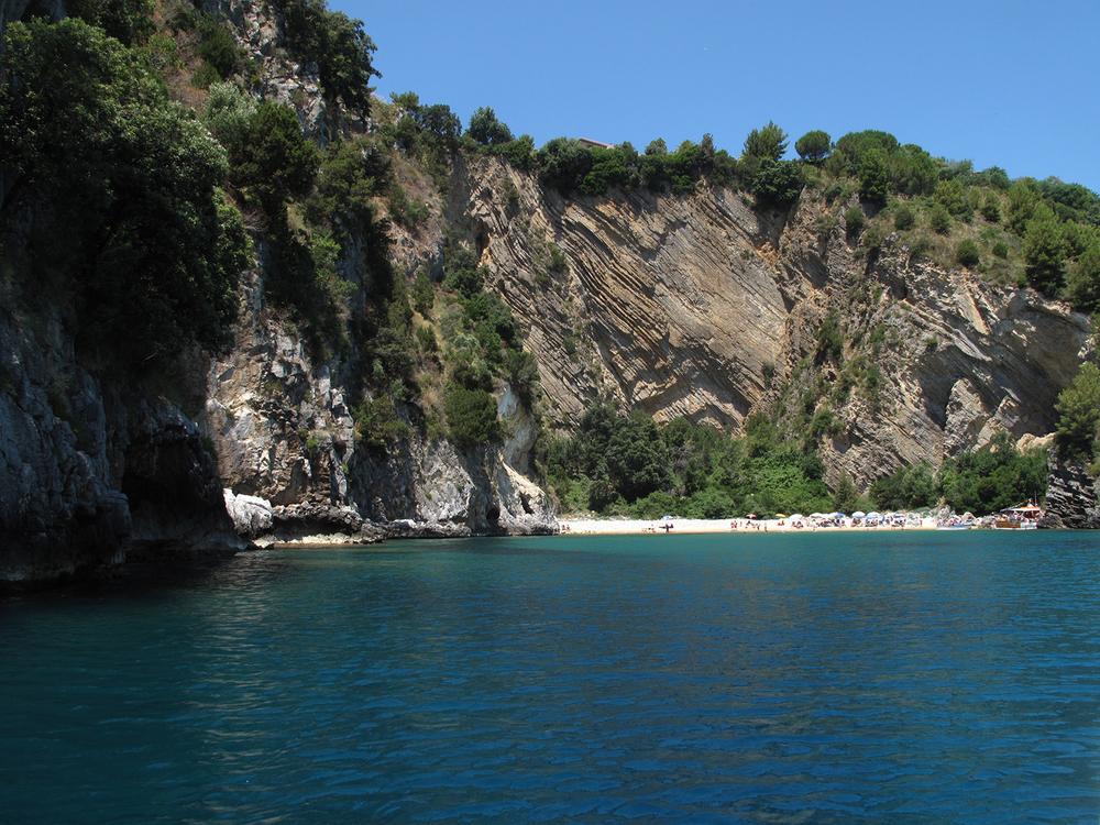 Hidden beach near Palinuro