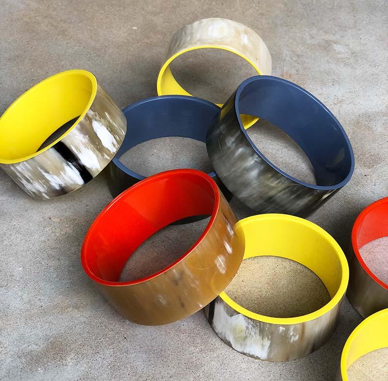 Lacquered horn braceletsWEBblog.jpg