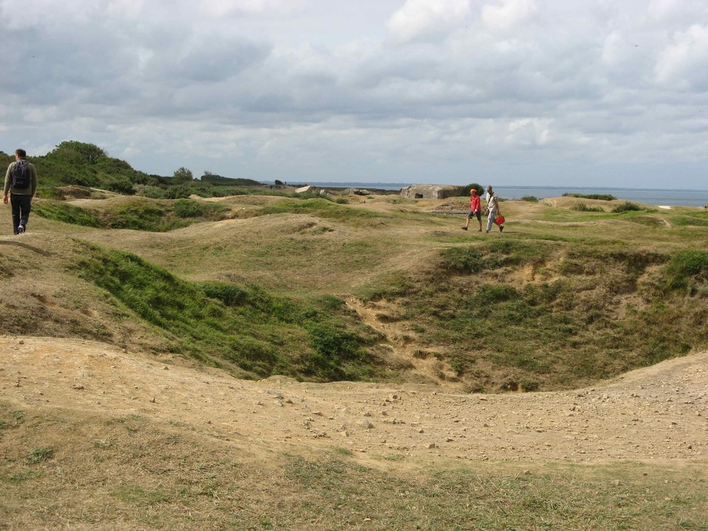 craters at pointe du hoc