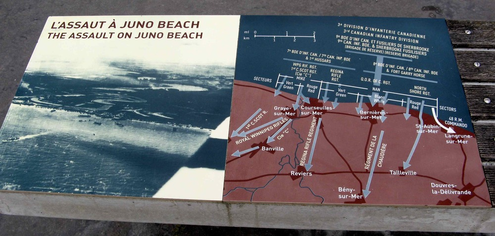 Juno Beach signs