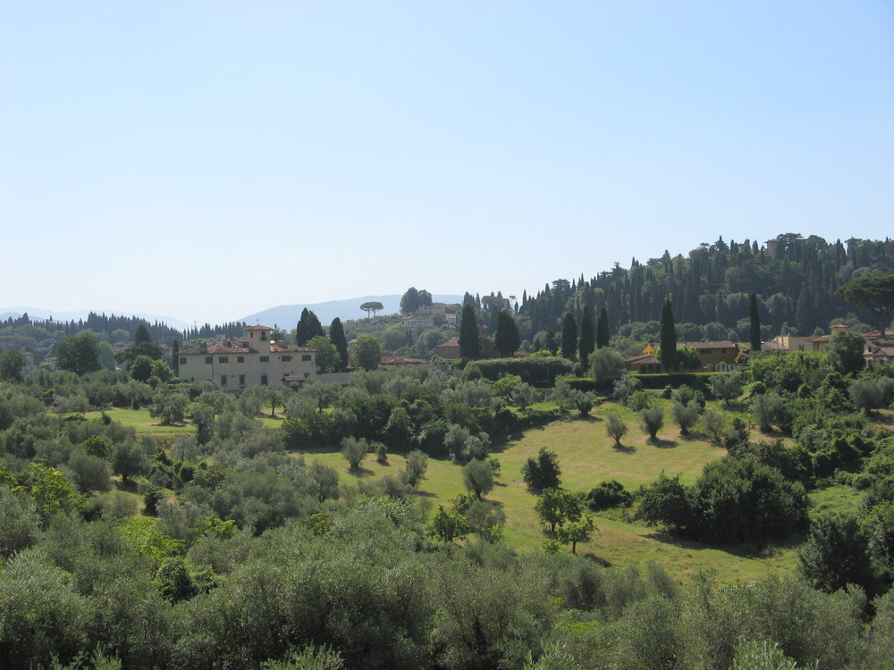 The Tuscan countryside from the top of the Boboli Gardens