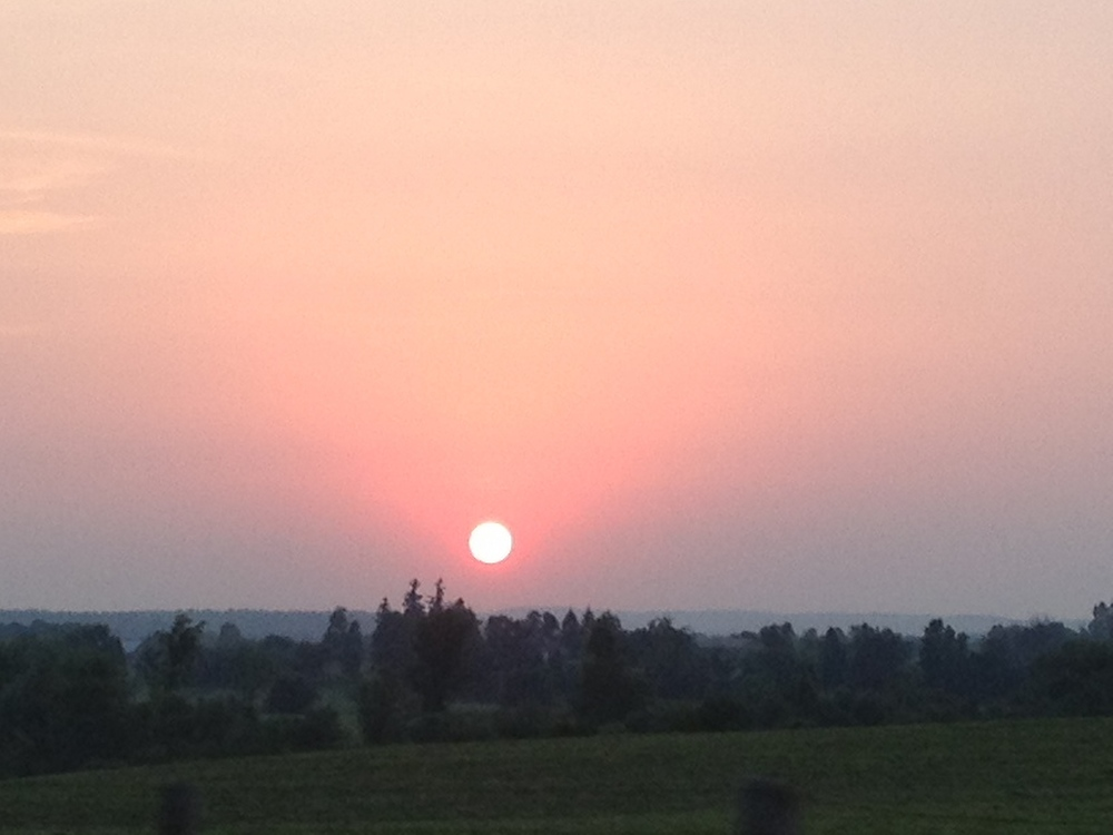 A rural Ontario summer sunset
