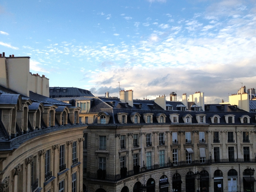 The view of Place des Victoires from the bedroom window. We sat here watching the sky and the people below for hours. Our peaceful, quiet slice of Paris (at least for a week).