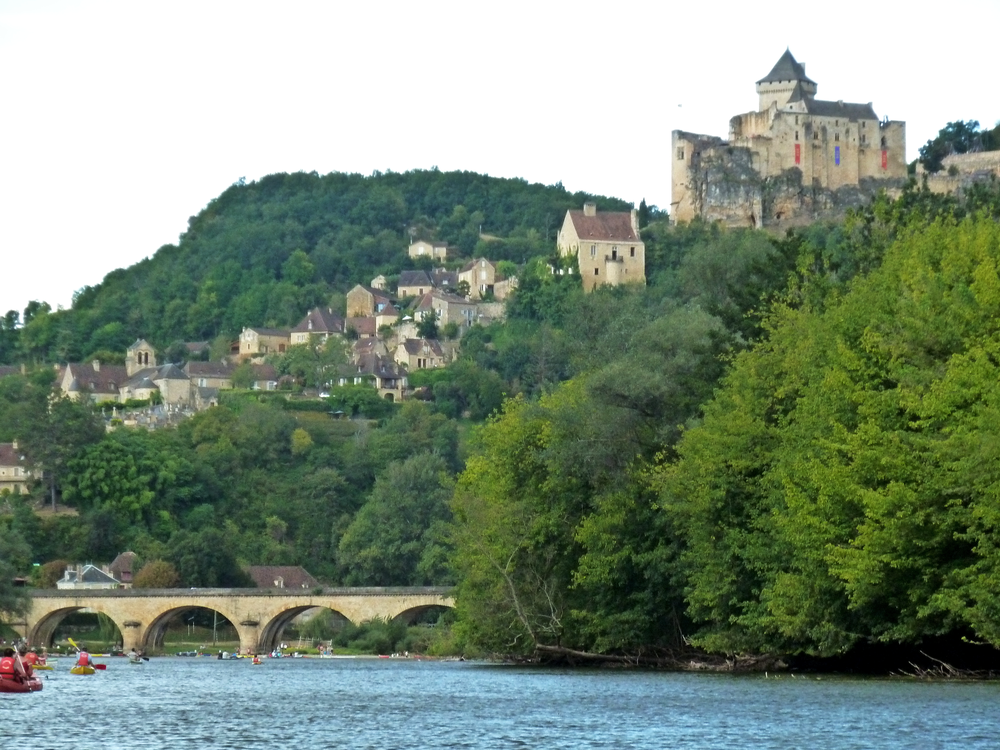 Heading home to Beynac via canoe. Nothing quite like this view coming into sight!
