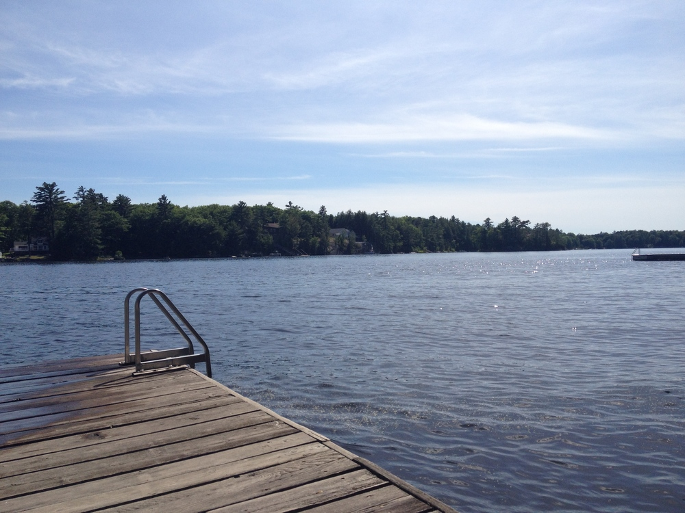 Lazing on the dock at the cottage this summer