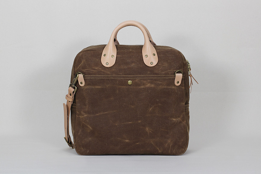 Winter Session | Dry Bag in Rust Waxed Canvas | $295 USD
