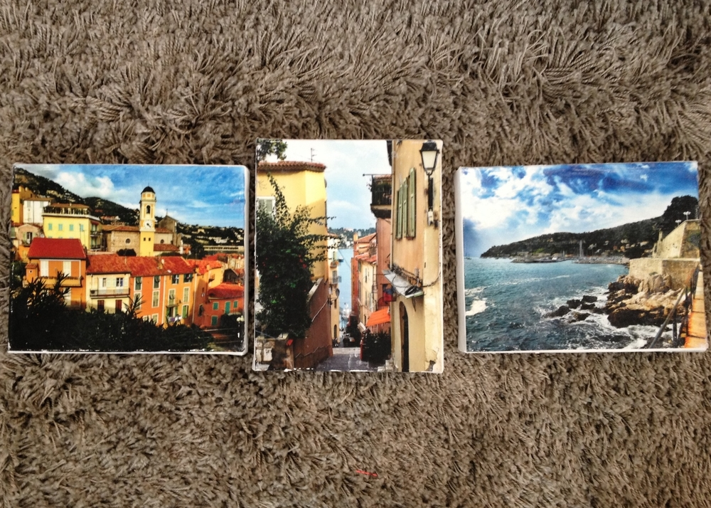 DIYed photo canvases from our Villefranche trip