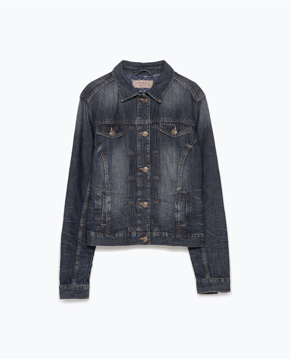 Linen-cotton denim jacket | Zara ($79.90 CAD)
