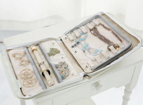 Signature Travel Jewelry Case in White | Clos-ette Too ($50 USD)