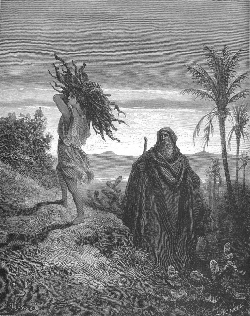 """"""" The Trial of Abraham's Faith ,"""" by  Gustave Dore  (1866)"""