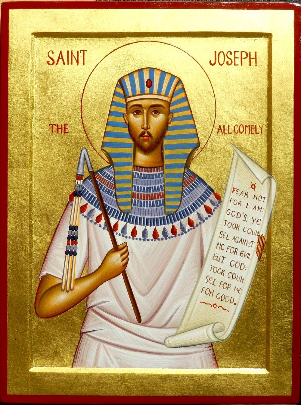 Saint Joseph, the All Comely  - by  Badri Shengelia  (Contemporary Georgian Iconographer)