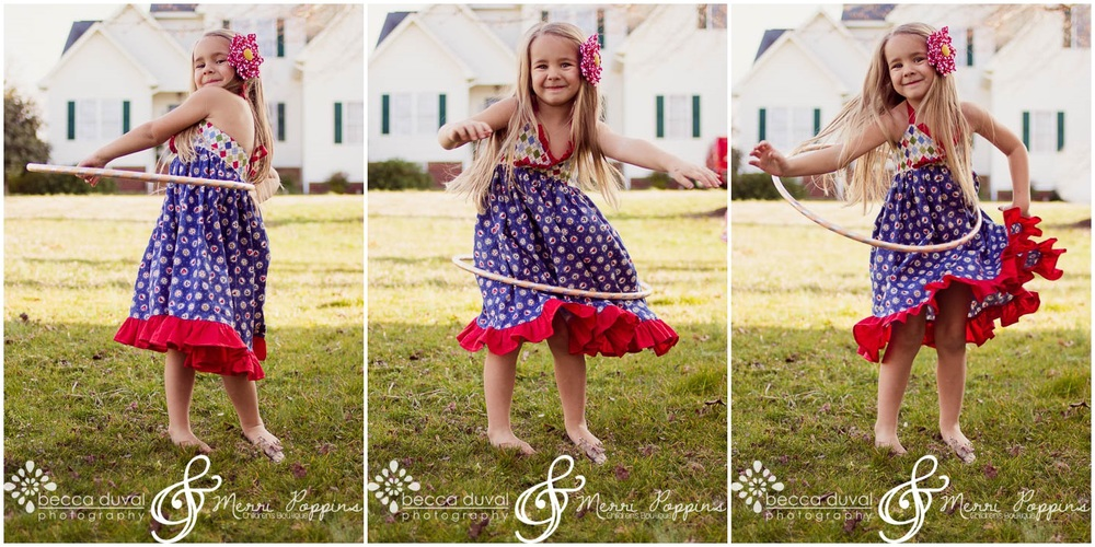 "Jenna's Carnival frock is the ""Ivy"" Dress (6 months - 8 years). I love the movement in these dresses - they're so perfect for photos!"