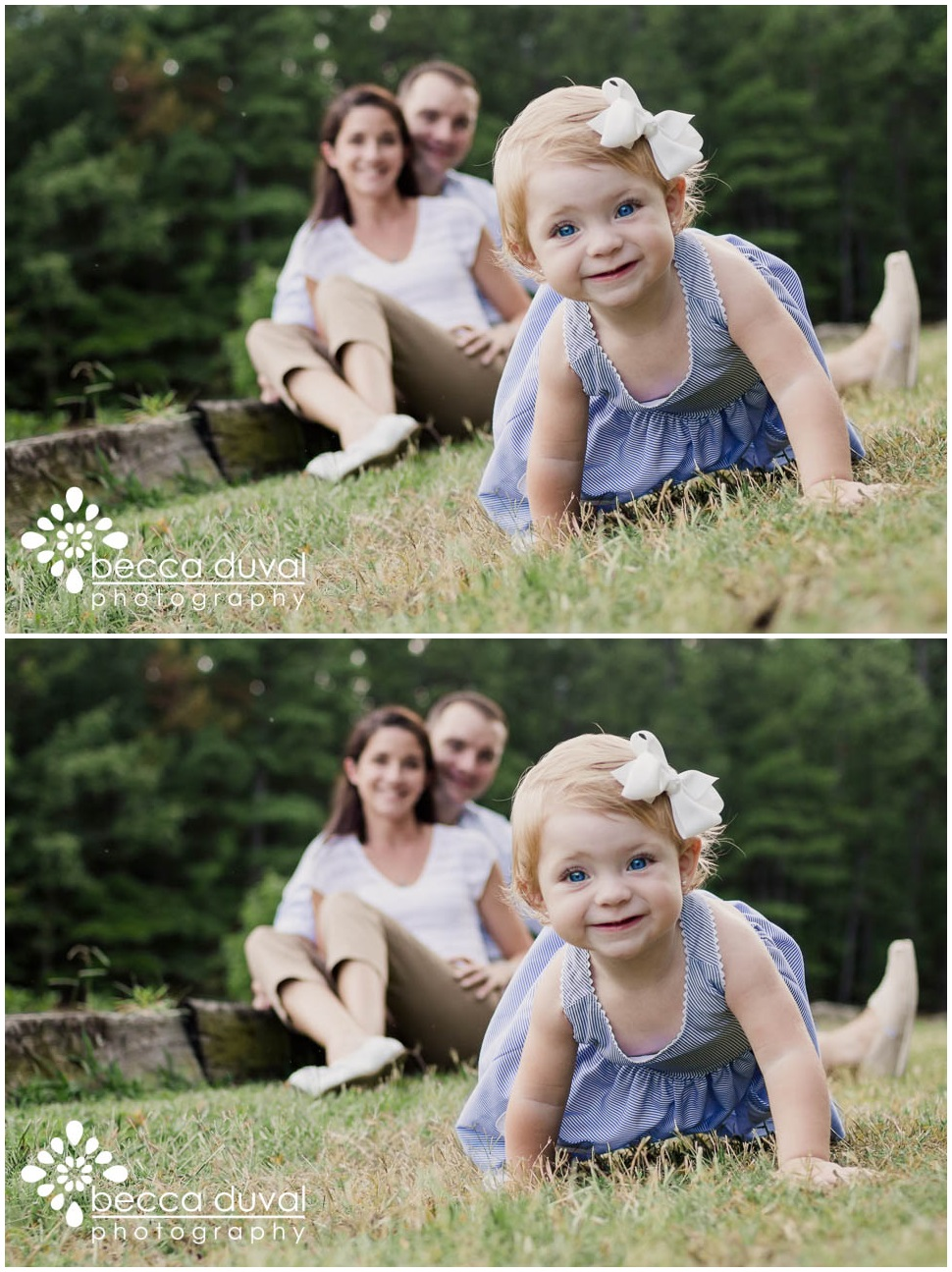"Maybe it's just me, but when I see the image at the top I think ""OH NO! SOMEBODY KEEP THE BABY FROM ROLLING OUT OF THE FRAME!""  Sophia is simply DARLING, and capturing the moment here with her parents looking on lovingly at their little peanut took priority over properly composing the shot. BUT!! Once I loaded it into the editing software, I was immediately distracted by the ""tilt."""
