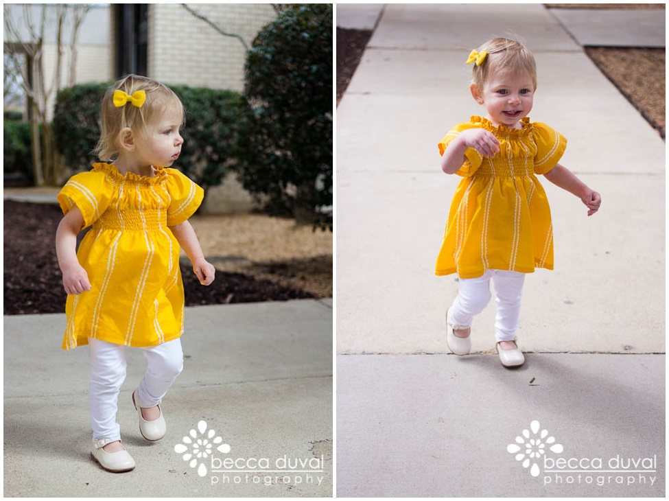 "Annnnd since I'm channeling my full-blown nesting mode into crafting some cute pieces for Kaelyn, here's her ""where-are-my-sunglasses""-yellow Spring frock :)  (Free Tutorial Here)"