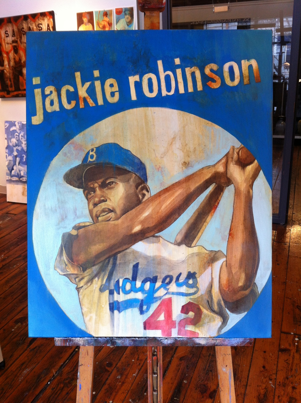 The Durham Bulls commissioned this Jackie Robinson painting for their private collection