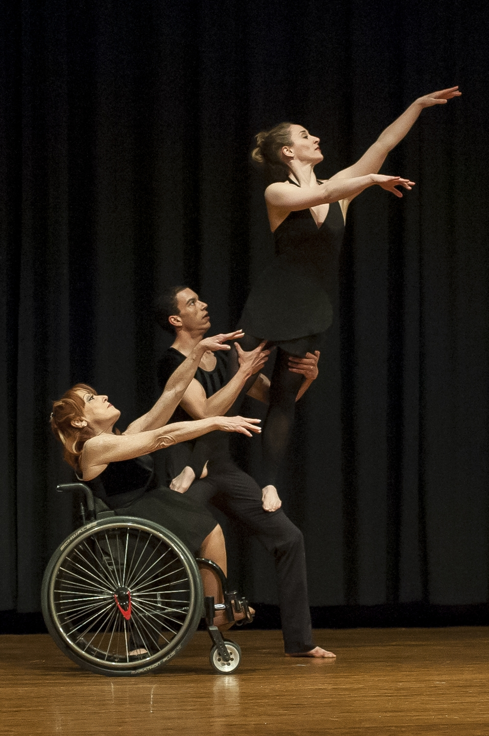 The dance company Dancing Wheels performs at Kansas State University as part of K-State For All Week, an event to highlight the abilities of people with differences.  Dancing Wheels is the first professional company in America made up    of artists with and without disabilities that educate, entertain and advocate through inclusive dance.