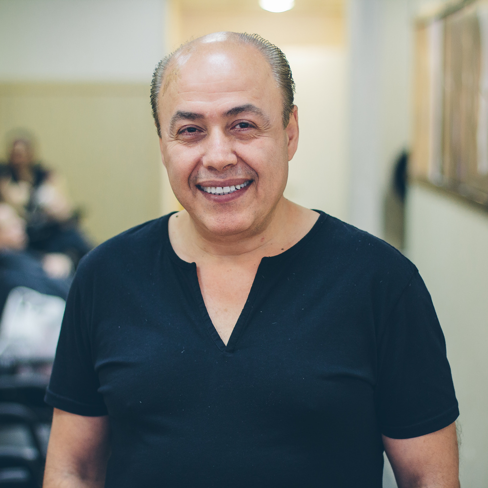 Faruk Faruk, who joined David's as a part of Sugars team, has 41 years of experience in hair styling and is very good at what he does. He is great at cutting, coloring, and blowdrying all types of hair