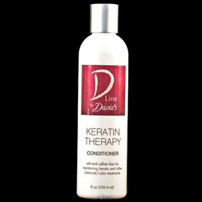 Keratin Therapy Conditioner (8 oz.) A must for maintaining keratin smoothing treatments.  Salt and sulfate-free for extra gentleness.  Color safe for all hair types, gluten-free, and formaldehyde and petrochemical free.