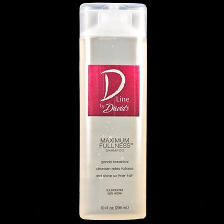 Maximum Fullness Shampoo Gentle botanical cleanser adds fullness and shine for finer hair.