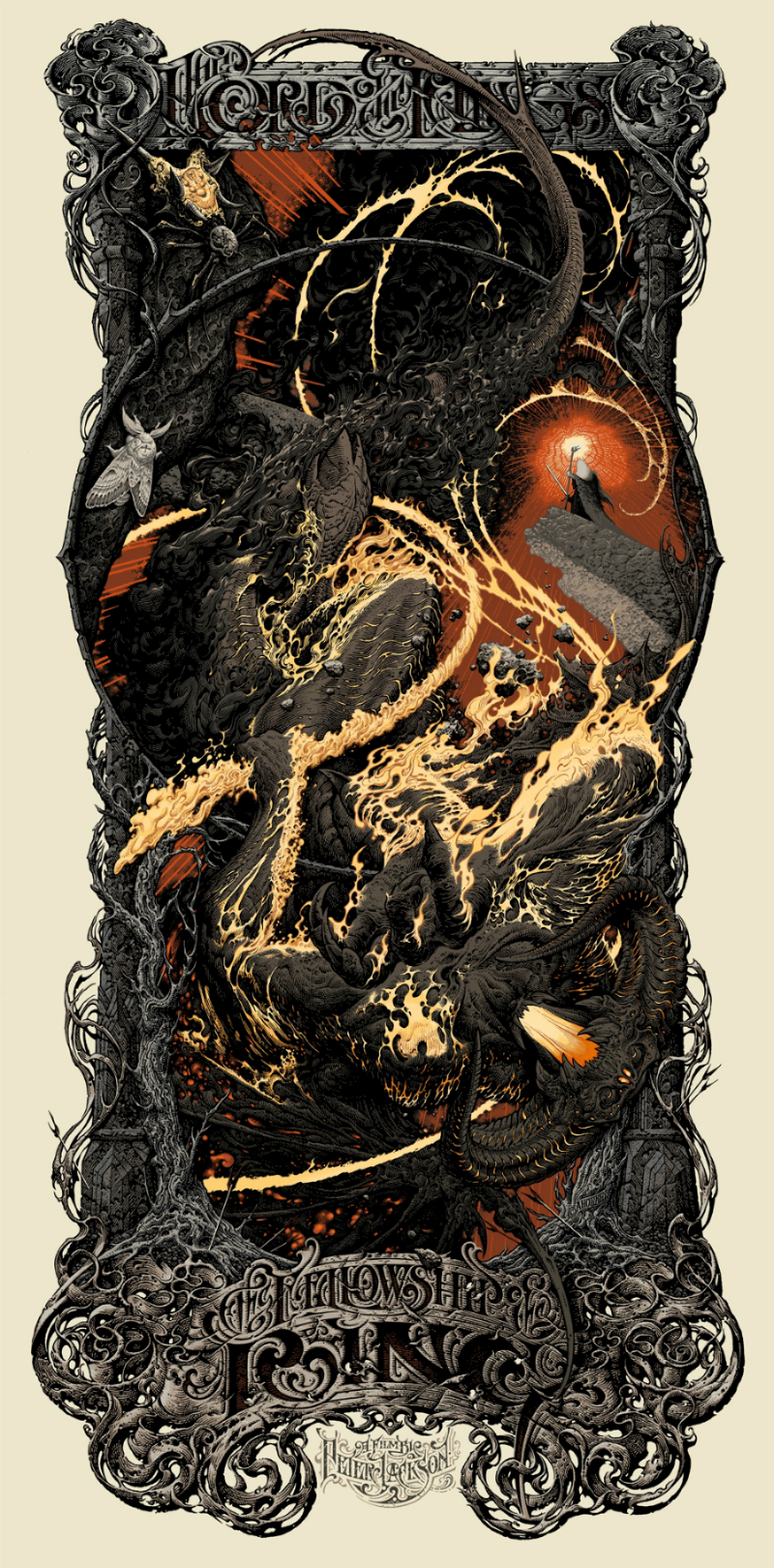I got insanely lucky on this mondo drop. I was lucky enough to score the variant and the reg! This is a bit of a stretch since I haven't seen this print in person yet, but it makes my list. Horkey is amazing. Need to get his Pan's Labyrinth print this year.
