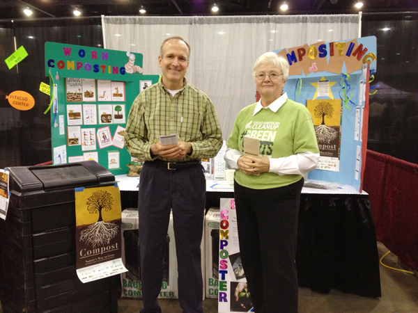 Keep Dalton-Whitfield Beautiful volunteers promote composting at the Business Expo for International Compost Awareness Week.