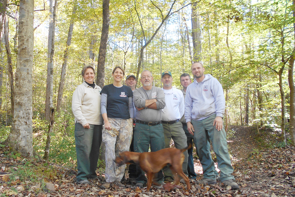 Volunteers from the Conasauga Ranger District of the US Forest Service cleaned along three creeks in their service area.