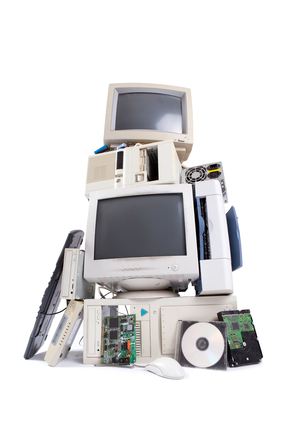 Instead of throwing electronic devices away consider recycling, repairing, refurbishing, or selling them.